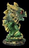 Wackelkopf Figur - Drache Bobling - grün