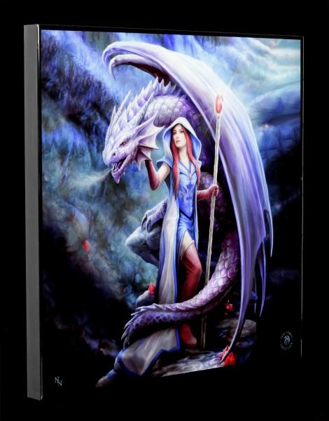 Großes Hochglanz Bild mit Drache - Dragon Mage