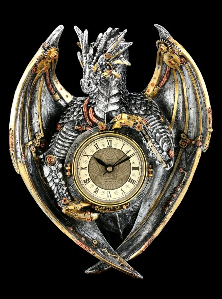 Wall Clock Steampunk Dragon - Dracus Horologium