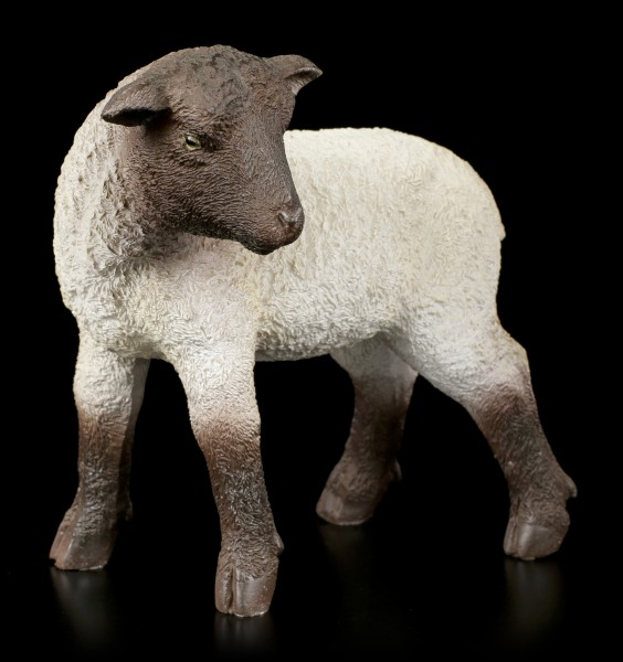 Gartenfigur - Schaf schaut sich um