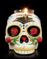 Skull Tealight Holder - Day of the Dead
