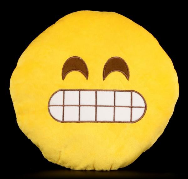Emoji Plüsch Kissen - Grinsen