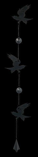 Metal Wind Chime - Raven