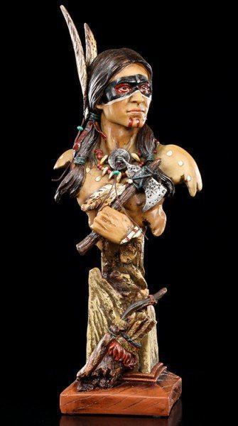 Indian Bust - Indian with Tomahawk