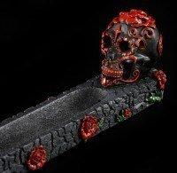 Incense Stick Holder Skull - Day Of The Dead