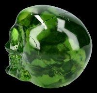 Skull - translucent green