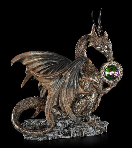 Flaschenhalter - Braune Drachen Figur