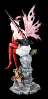 Große Elfen Figur - Roxana mit Drache