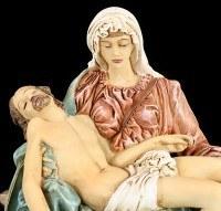 Pieta Figure - Mary with Jesus - colored small