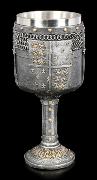Large Medieval Goblet - Shield of the Realm