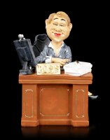 Funny Job Figurine - Lady Boss on Desk