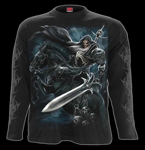 Langarmshirt - Skelett Krieger - Grim Rider