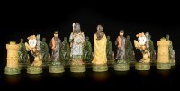 Chessmen Set - Knights vs Arabs