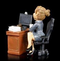 Funny Job Figur - Lady Boss am Schreibtisch