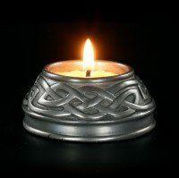 Keltischer Teelichthalter - Silber Finish