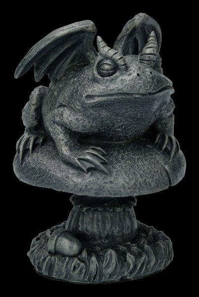 Gargoyle Kröten Figur auf Pilz