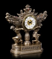 Baroque Mantlepiece Clock with Angels