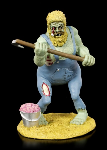 Zombie Figurine - Hillbilly with Scythe