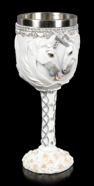 Kelch mit Einhörnern - White Dreams