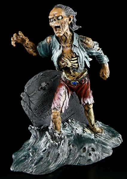 Zombie steigt aus Grab bunt - Monte Moore