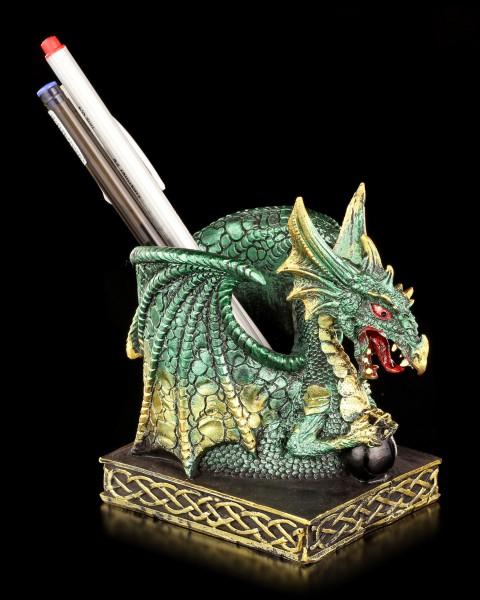 Drachen Stiftebecher - Emerald grün