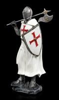 Kreuzritter Figur mit Axt auf Schulter