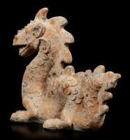 Chinese Dragon Garden Figurine XXL - Rust look