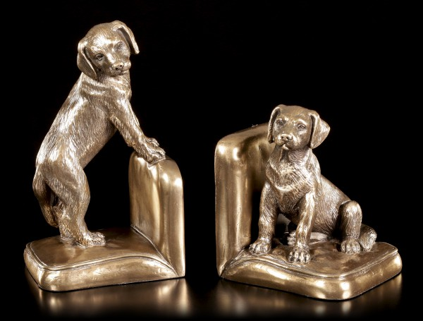 Dogs Bookend Set - Beagle Puppies
