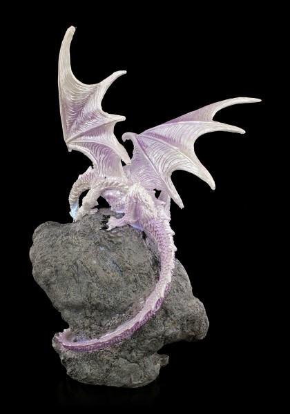 Drachen Figur mit LED - White Fire