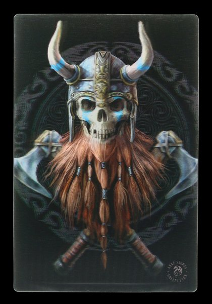 3D Postcard - Viking Skull