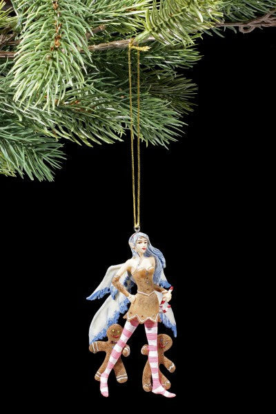 Christmas Tree Decorations - Blue Gingerbread Fairy