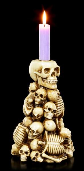 Kerzenhalter - Totenkopf & Skelett Berg