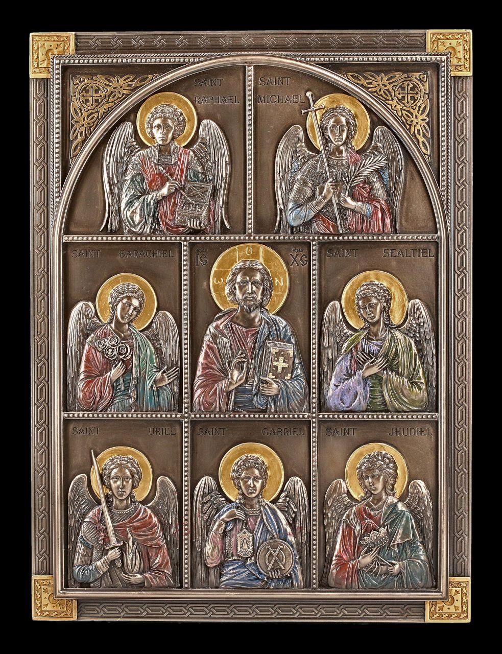 Wandrelief - Jesus und sieben Erzengel