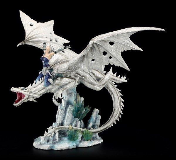 Dragon Figurine - Candidus with Ice Princess
