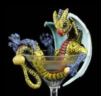 Drachen Figur im Martini Glas