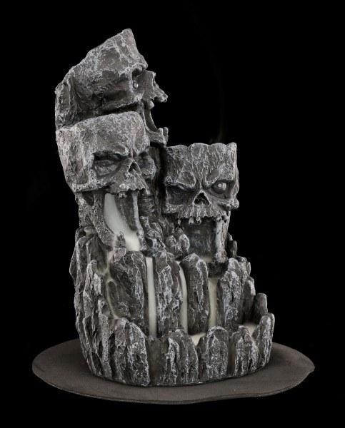 Backflow Incense Cone Burner - Skull Rock