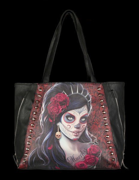 Faux Leather Bag - Day of the Dead