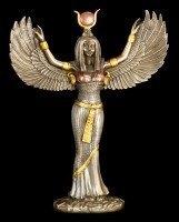Isis Figur - Ägyptische Göttin der Magie bronziert