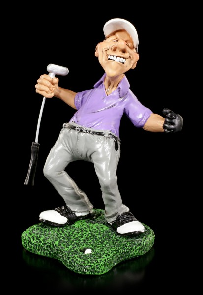 Cheering Golfer Figurine - Hole-in-One