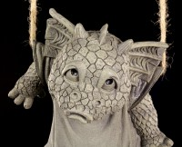 Drachen Gartenfigur - Waschtag