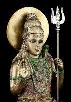 Hindu God Figurine - Shiva - Sitting on Lotus Flower