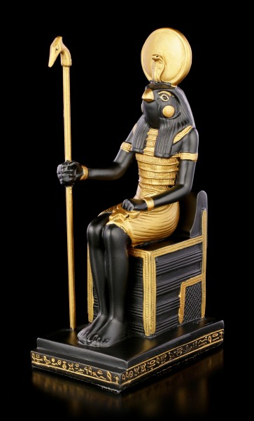 Horus Figurine on Throne with Scepter