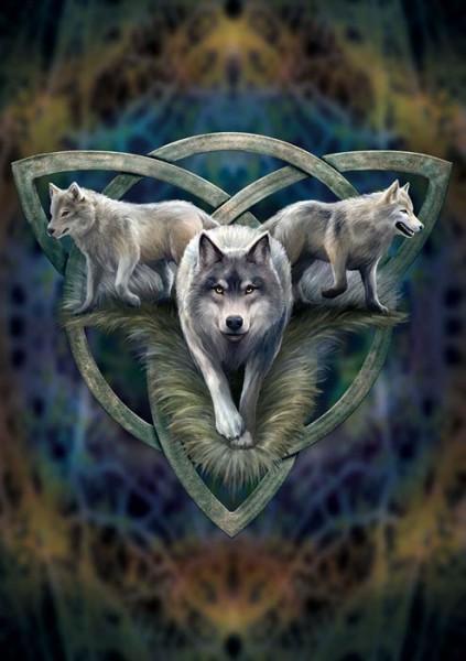 Greeting Card - Wolf Trio
