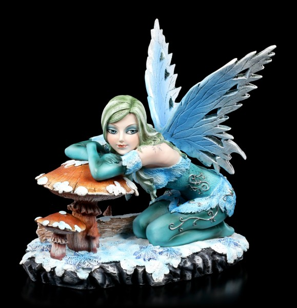 Winter Fairy Figurine - Salina with Mushroom