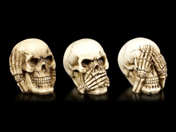 Kleines Totenkopf 3er Set - Nichts Böses