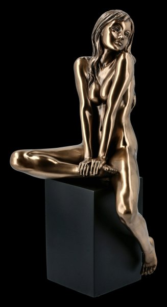 Female Nude Figurine - Sitting on Monolith
