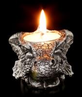 Tealight Holder - Small grey Dragons Head