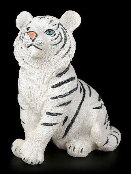 White Tiger Baby Figure - Sitting on the Floor