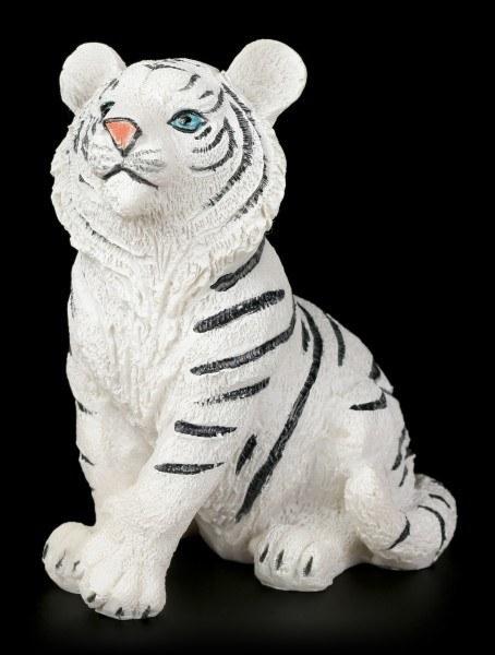 Weiße Tigerbaby Figur - Sitzend auf dem Boden