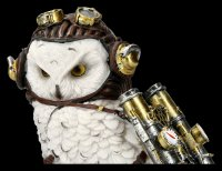 Steampunk Owl Figurine - The Aviator